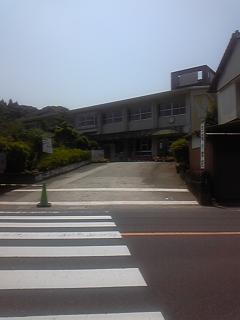 校門前から