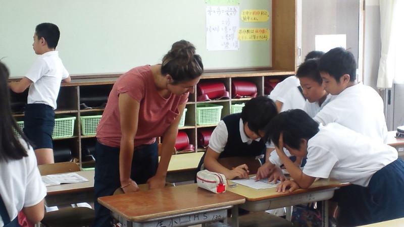 ALTと外国語の学習をしました