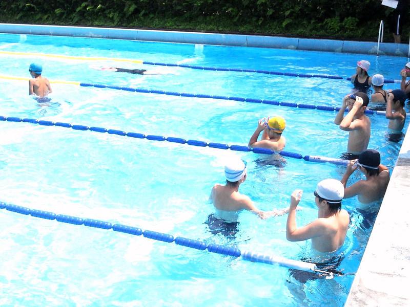 水泳記録会に向けて