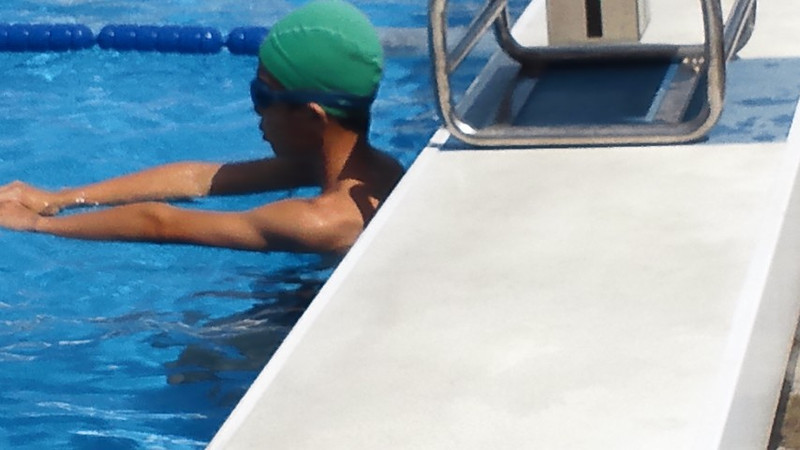 昨日は、水泳記録会