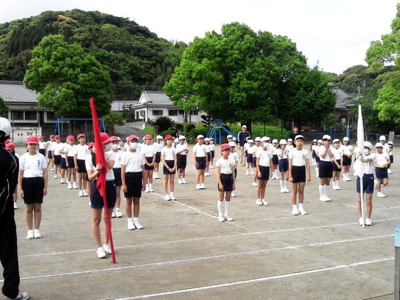 運動会の練習