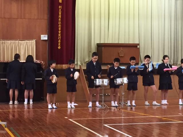 2学期最後の音楽集会は5年生の合奏の発表がありました♪