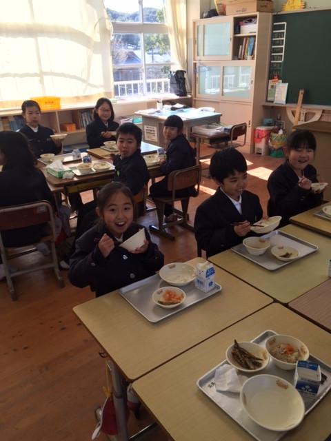 3・4、5・6年生が交流給食をしていたのでした‼️