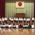 1年生を迎える会♪(^_^)   その1お祝いの言葉&  2年生・3年生の歌
