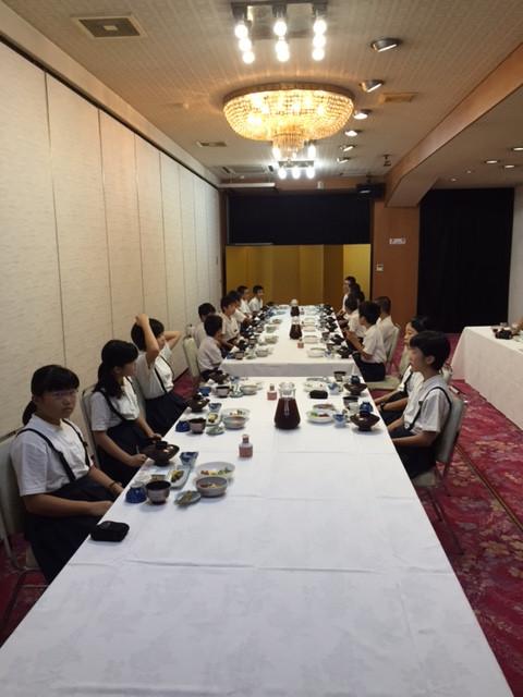 朝食、そして、退館式…2日目、スタートです✨(^_^)